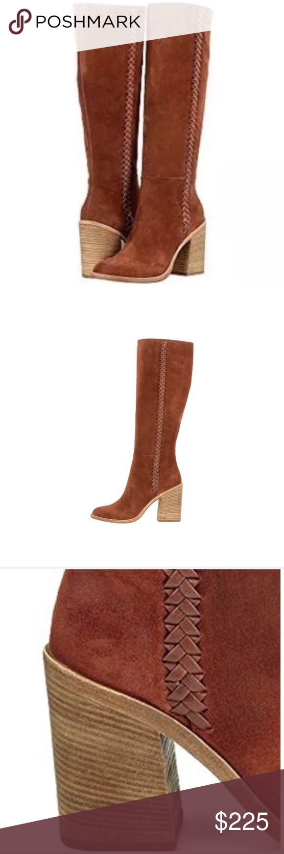 8f8086bfa8b UGG Knee High Mahogany Suede Block Heel Tall Boots UGG Australia ...