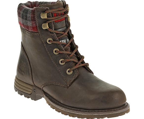 Women - Kenzie Steel Toe Work Boot - Bark | CAT Footwear