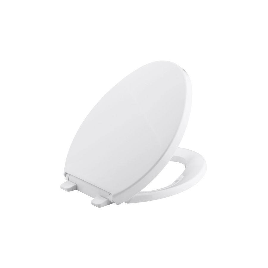 Shop Kohler Saile White Plastic Elongated Toilet Seat At Lowes Com
