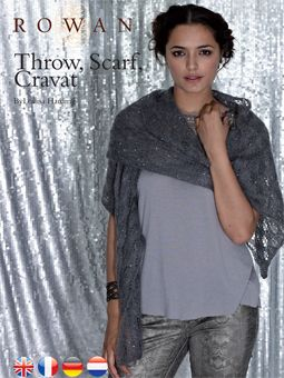 Glamour Cravat Scarf And Throw Free Pattern From Rowan Knitting