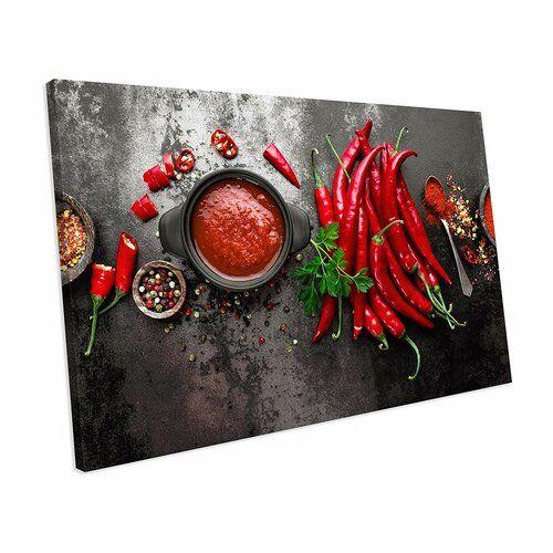 Red Hot Cilli Spice Herb Food Kitchen' Fotografie auf Leinwand East Urban Home Größe: 20 cm H x 52 cm B