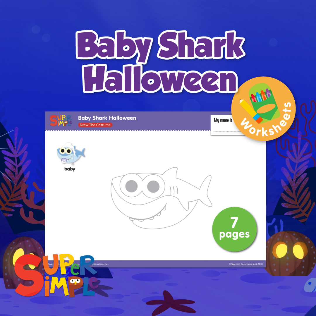 Help Baby Shark And Friends Get Ready For Trick Or