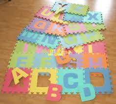 Annoying Foam Mats Turned Into Amazing Wall Art Baby Learning Learning Letters Foam Letters