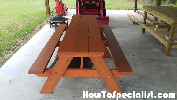 Diy 10 Ft Picnic Table Picnic Table Diy Plans Diy Picnic Table