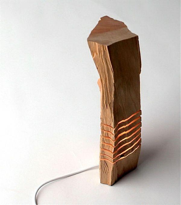 Moderne Kunst Deko Zuhause Ideen Holz Skulptur | Lampe | Pinterest ... Deko Idee Holz