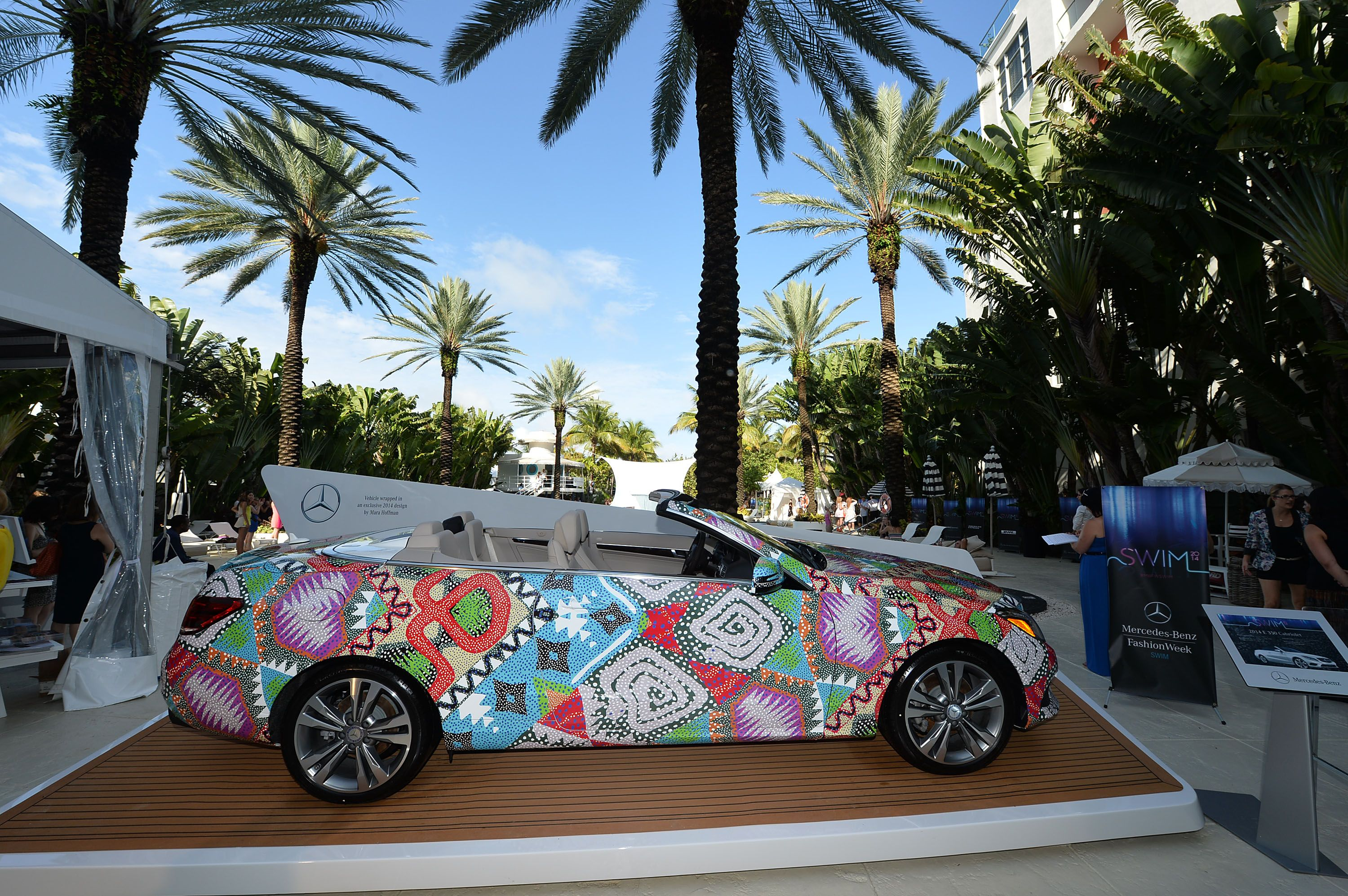 The 2014 E-Class cabriolet as imagined by Mercedes-Benz Presents Designer Mara Hoffman at MBFW Swim.
