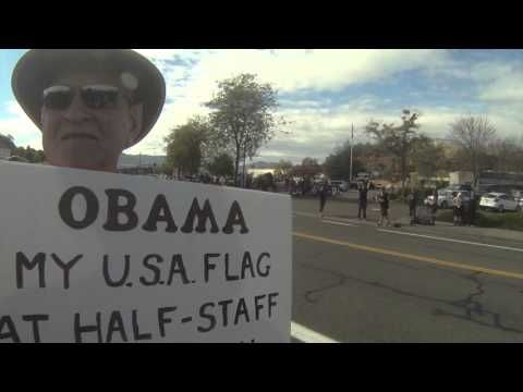 PROTESTING OBAMA over Politicizing this Mass Shooting to effect the 2nd Amendment - YouTube