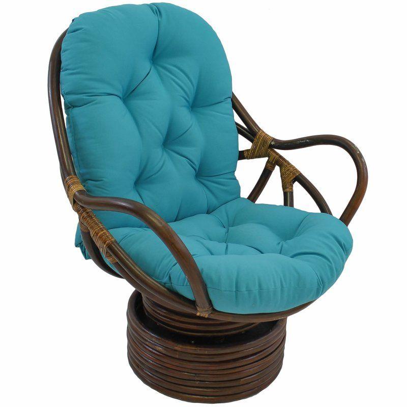 Benahid indoor rattan swivel chair with cushion swivel