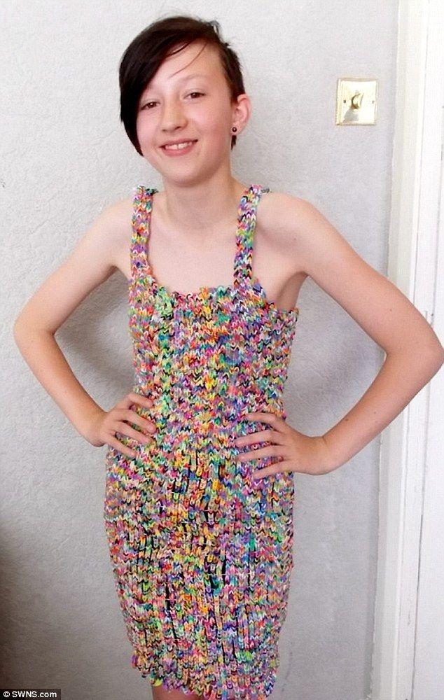Rainbow loom wedding dress