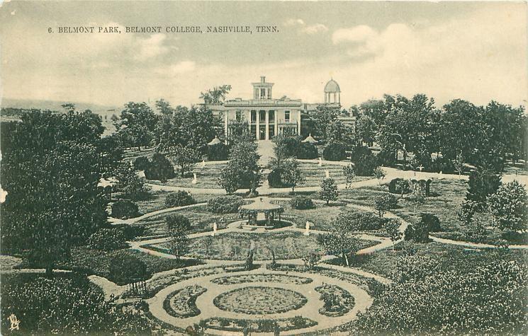 Belmont Park Belmont College Nashville 1908 Nashville Belmont Nashville Tennessee