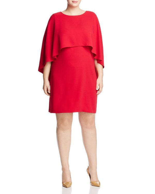 Vince Camuto Plus Cape Overlay Dress | Products | Dresses ...