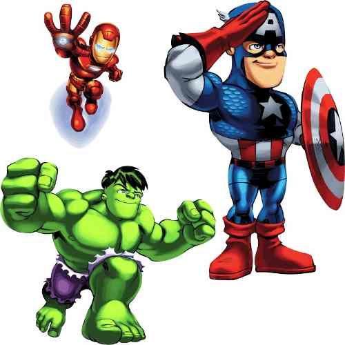 Personalixados Herois Alta Resolucao Adesivo P Crianca Marvel