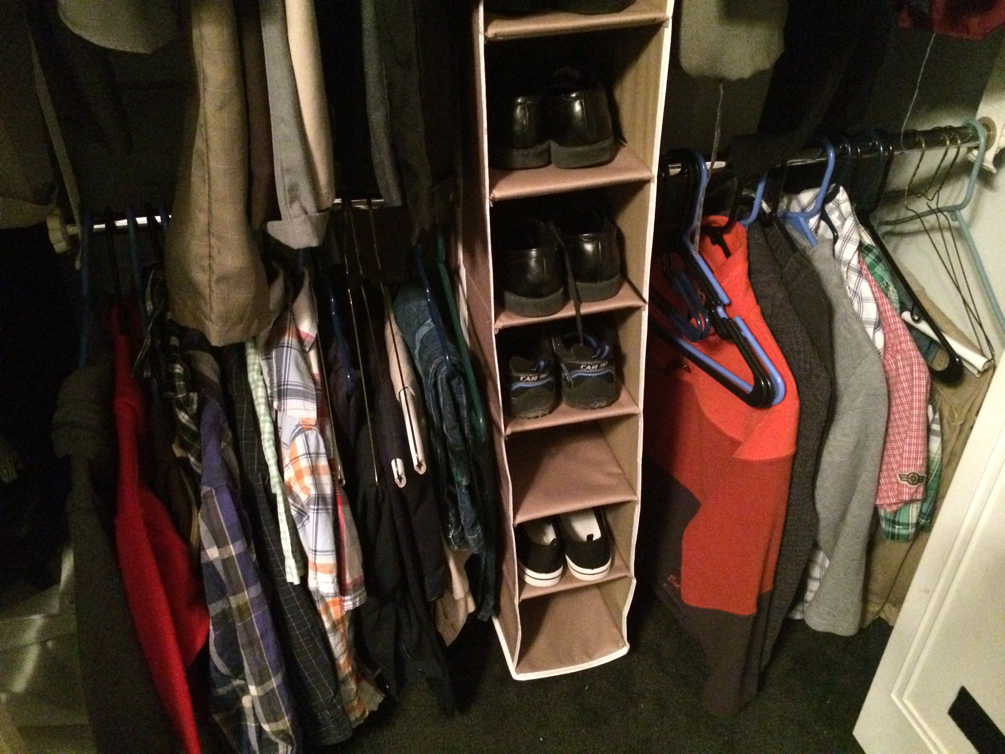 Maximized The Space In My Boysu0027 Closet With A Closet Doubler Rod By Michael  Graves