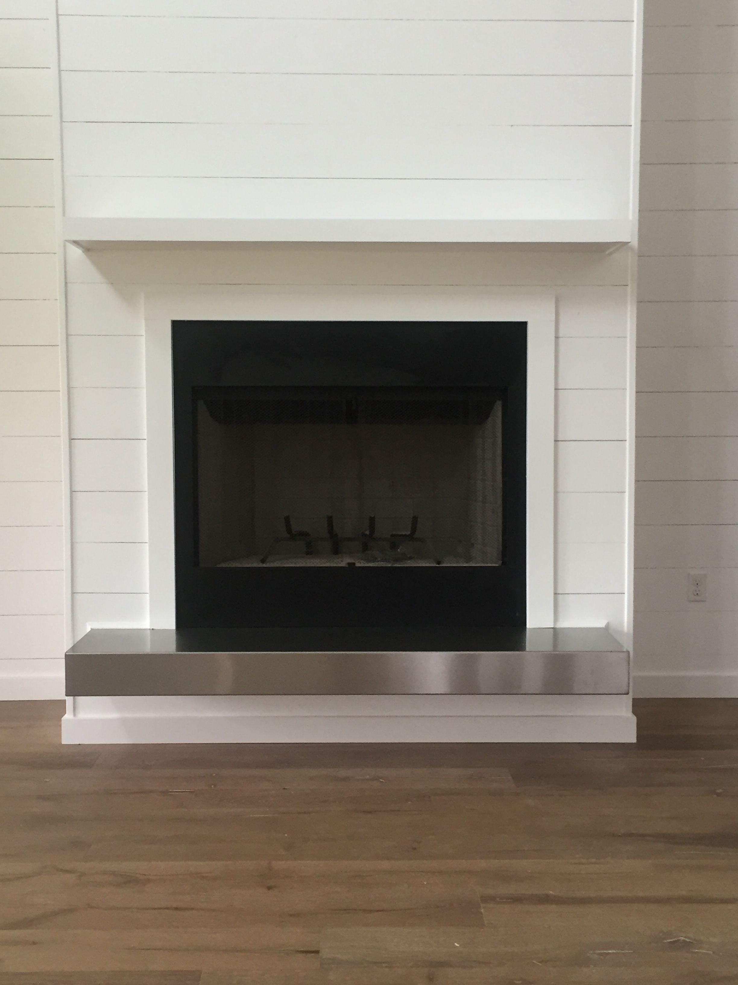 Shiplap Fireplace Add Reclaimed Wood Mantel No Silver Wood Fireplace Surrounds Diy Shiplap Fireplace Shiplap Fireplace