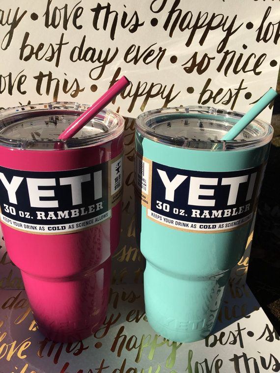 30oz Powder Coated Straws To Fit 30oz Yeti Lid By Sassyncompany