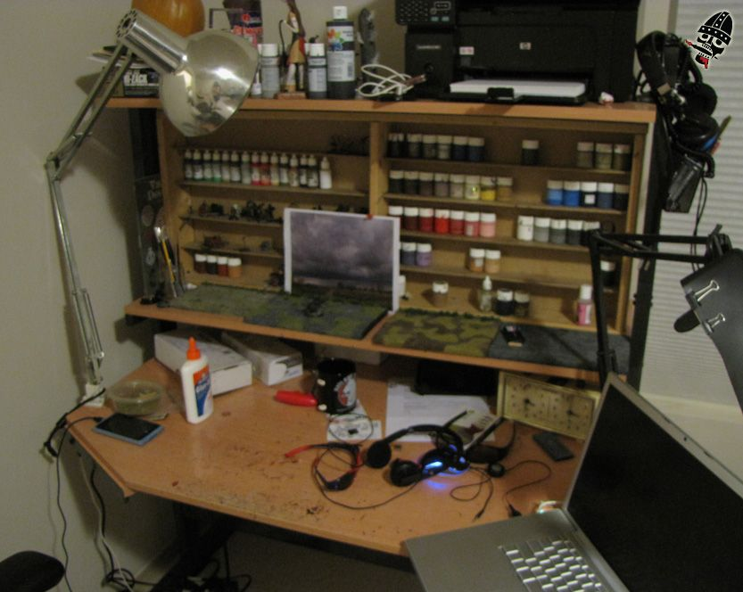 Miniature Painting Desk My Same Old In It S New Home Painted By Neldoreth