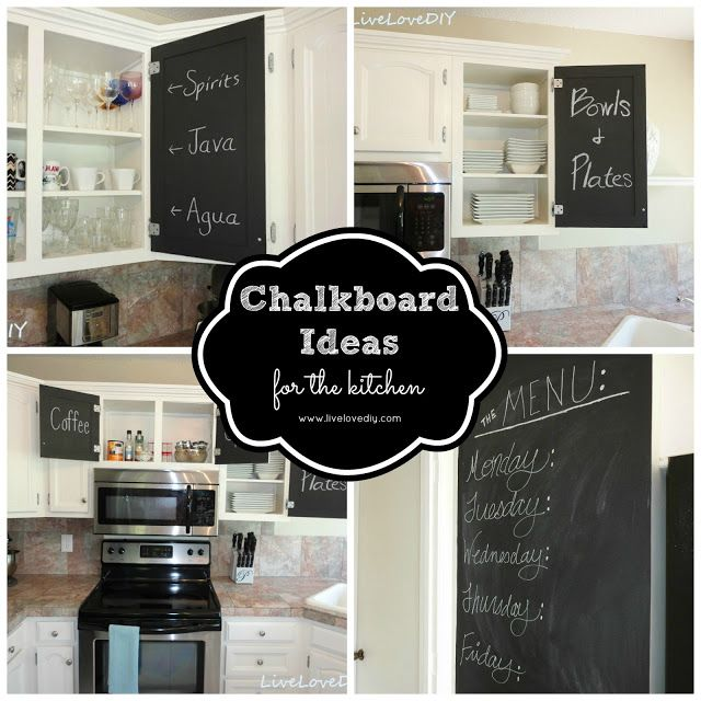 The Chalkboard Paint Kitchen Cabinet