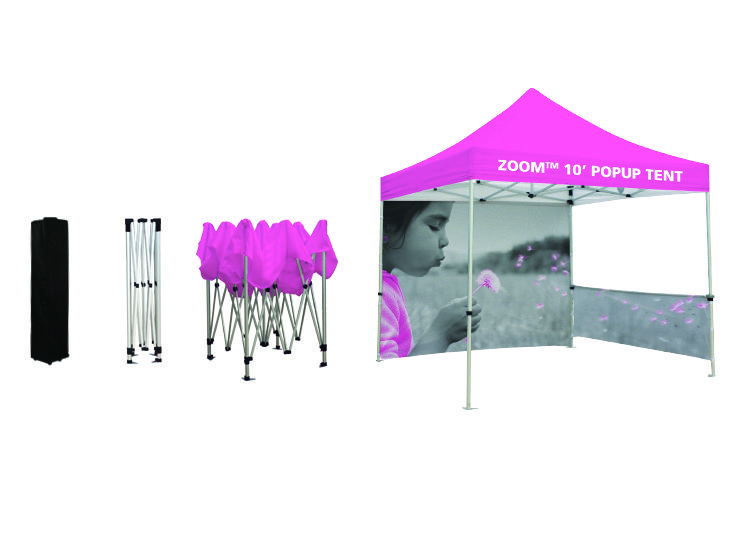 Steps to setup a ZOOM 10 and 20 POPUP TENT Tradeshow