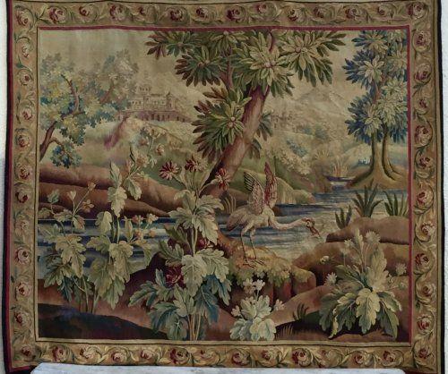 Tapisserie D Aubusson D Epoque Xixe Tapestry Woven Needlepoint