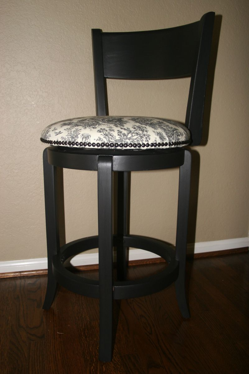 How To Reupholster A Barstool Diy Diy Bar Stools Bar Stools