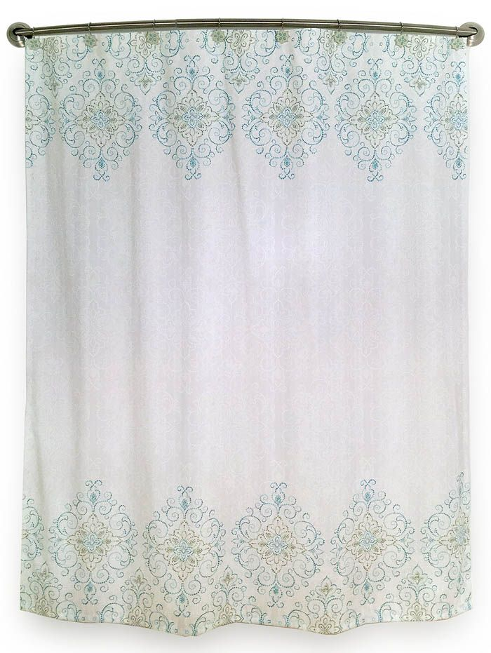 Lenox French Perle Groove Shower Curtain Everything Turquoise Shower Curtain Bathroom Shower Curtains Medallion Shower Curtain