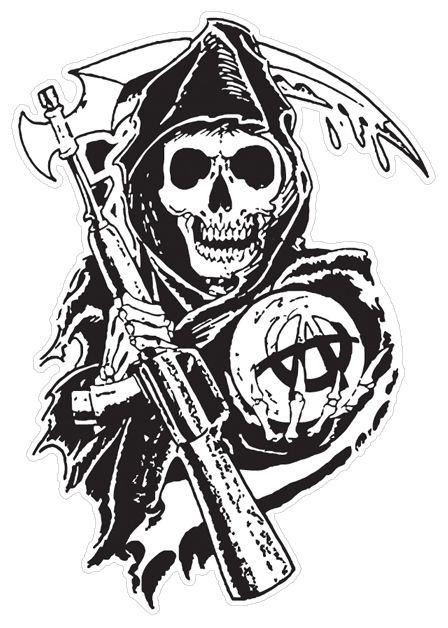 sons of anarchy stencil - Google-søk | SOA | Pinterest | Anarchy ...