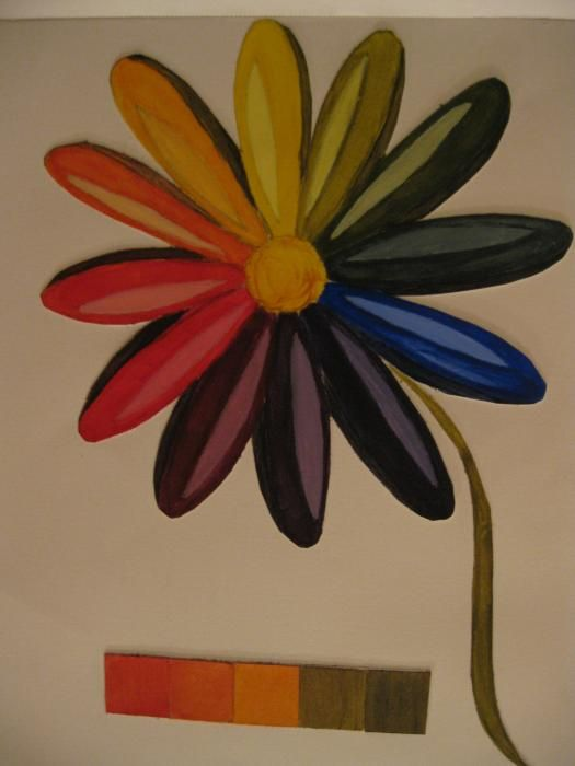 Daisy Color Wheel Painting