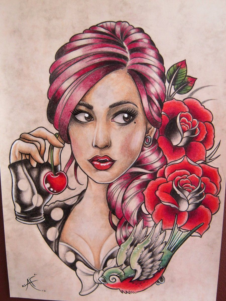 from Felipe naked tattoo pin up girls