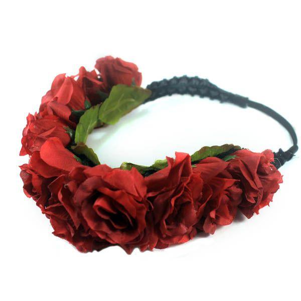 jual flower crown mahkota bunga dengan harga murah