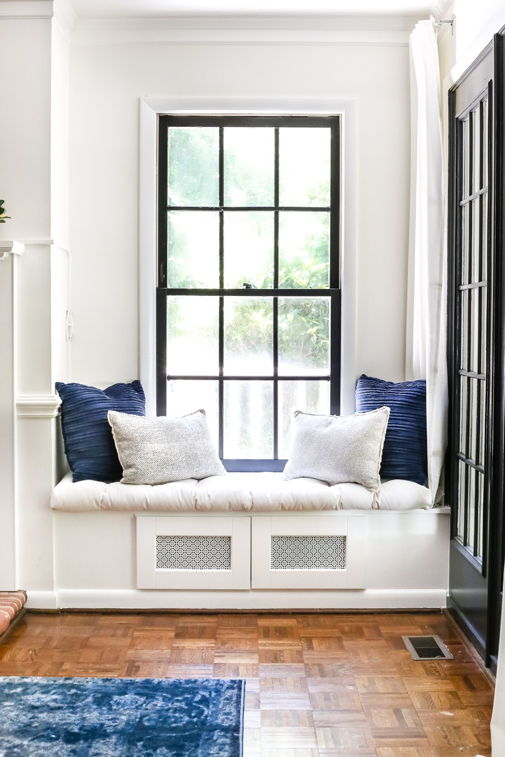 Rustic kitchen window decor  diy window seat from a kitchen cabinet  window kitchens and house