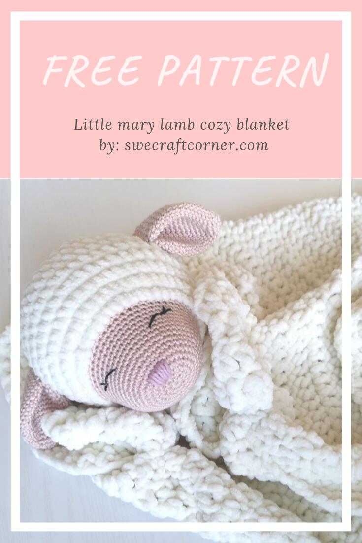 Little mary lamb – cozy blanket – FREE crochet pattern ...