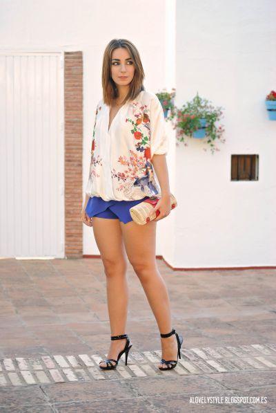Kimono Blouse  Skort by lovelystyleblog