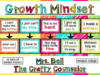 Mindset Posters (Fixed and Growth Statements Posters, Mind