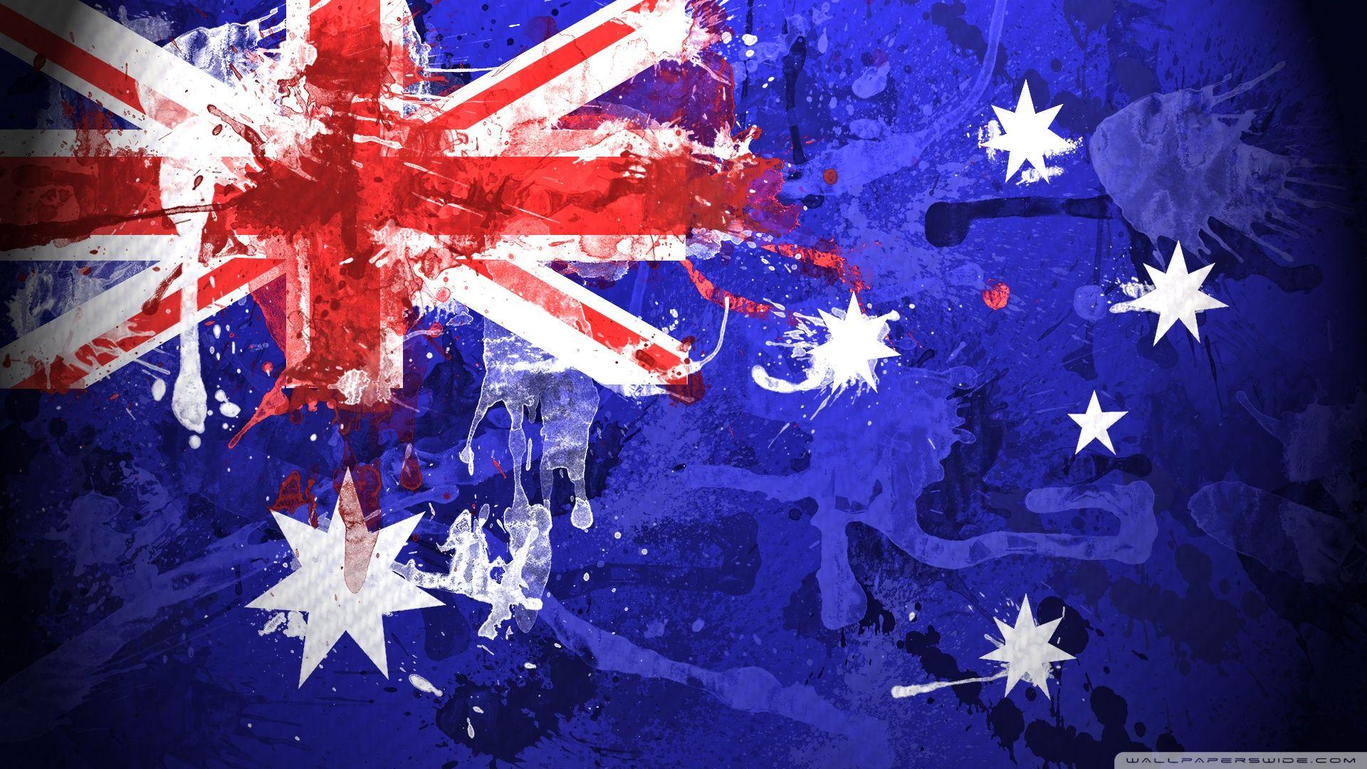 Australia Flag Art Wallpaper Hd Jpg 1920 1080 Flag Painting Flag Art Painting