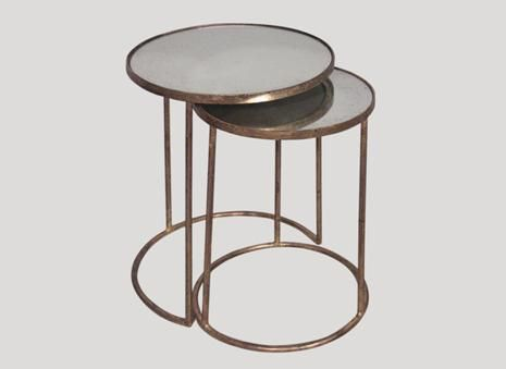 Robert Langford Gold Nest Tables: Our beautiful gold nest tables usually fly out the door like hotcakes! Better get in quick!