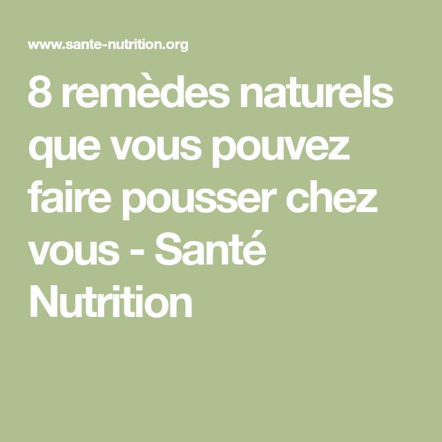 8 remèdes naturels que vous pouvez faire pousser chez vous