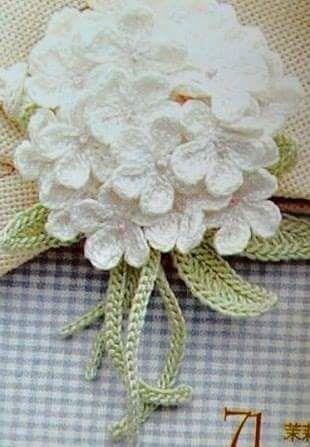 Hortencia Em Croche Bouquet De Croche Flor De Crochet Arte De Crochet