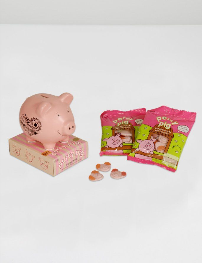 Pale Pink Percy Piggy Bank Bright Pink Percy Pig Piggy