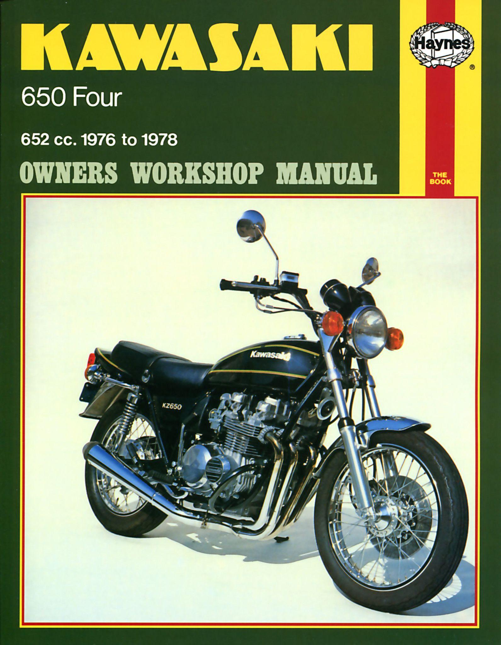 Haynes M373 Repair Manual for 1976-78 Kawasaki 650 Fours 652cc