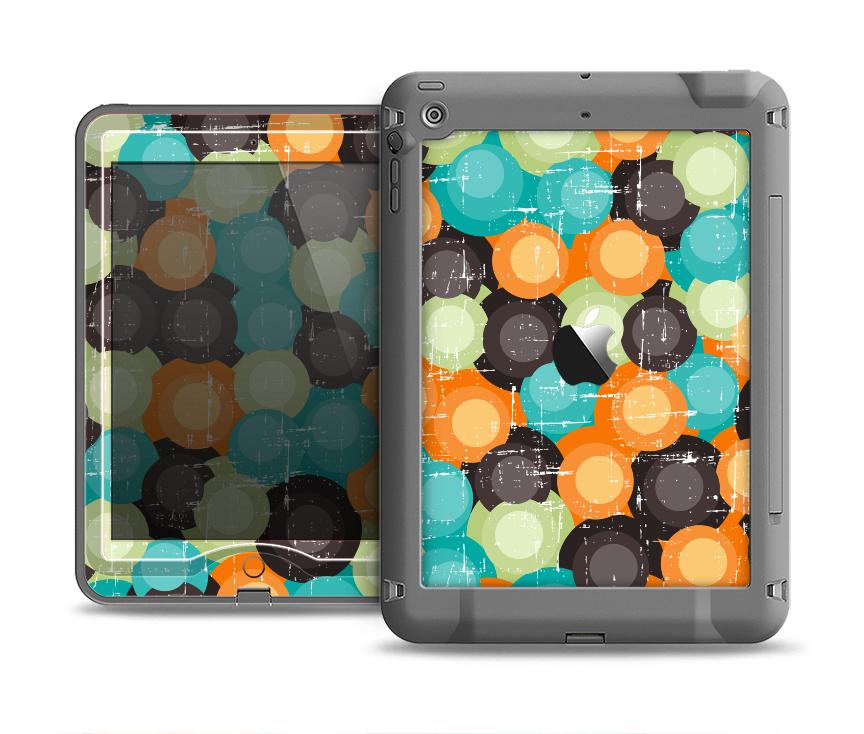 The Blue & Orange Abstract Polka Dots Apple iPad Air LifeProof Nuud Case Skin Set