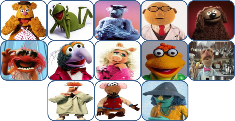 Muppet Show Characters Pictures And Names Muppets Characters Names And Pictures Muppets Character Character Names