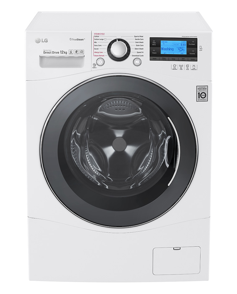 Lg Truesteam Washing Machines Go Hard On Dirt But Easy On Your Fabrics Steam Washing Machine Washing Machine Front Loading Washing Machine