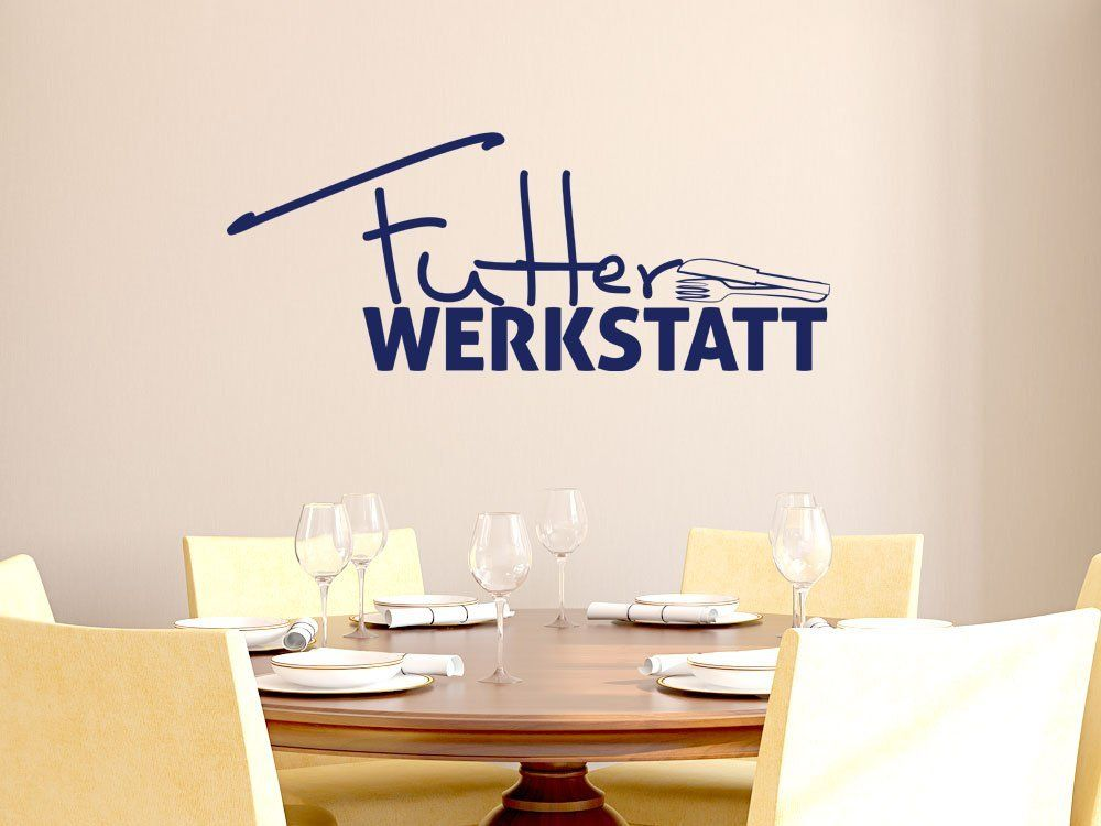 Wandtattoo Tattoo Wandaufkleber für Küche Spruch Futter ...
