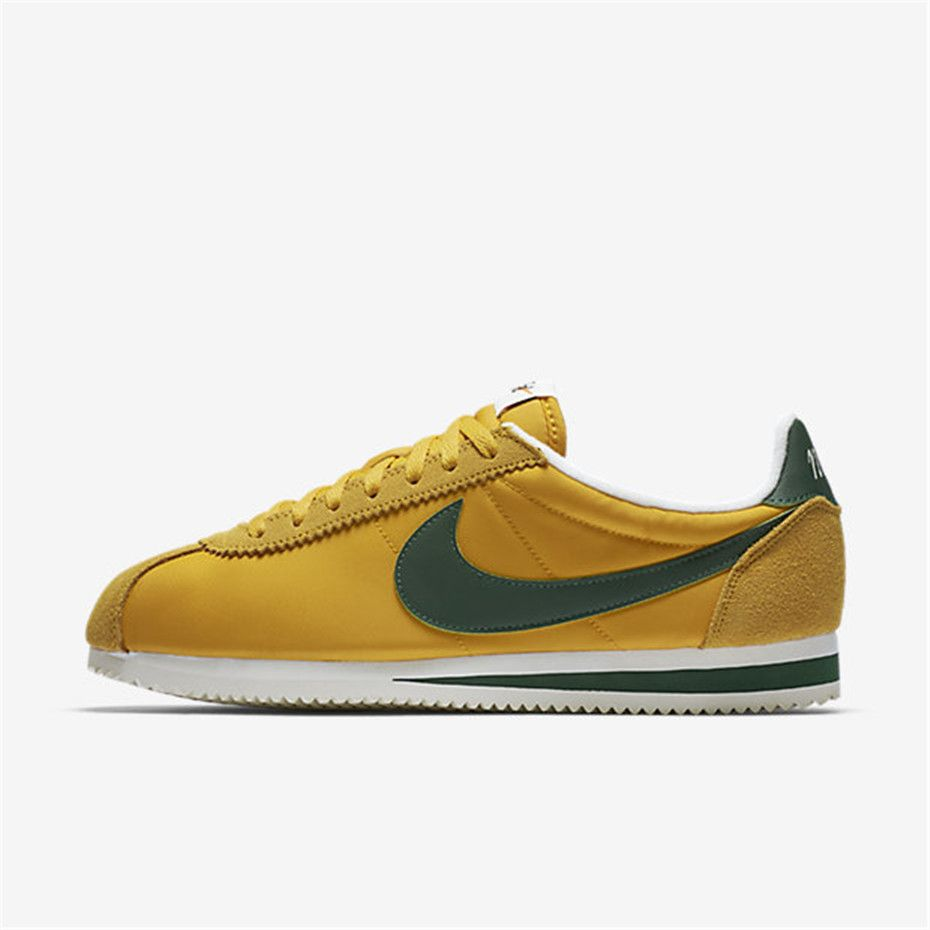 the latest 61df4 17960 Nike Classic Cortez Nylon Premium (Yellow Ochre   Sail   Gorge Green)