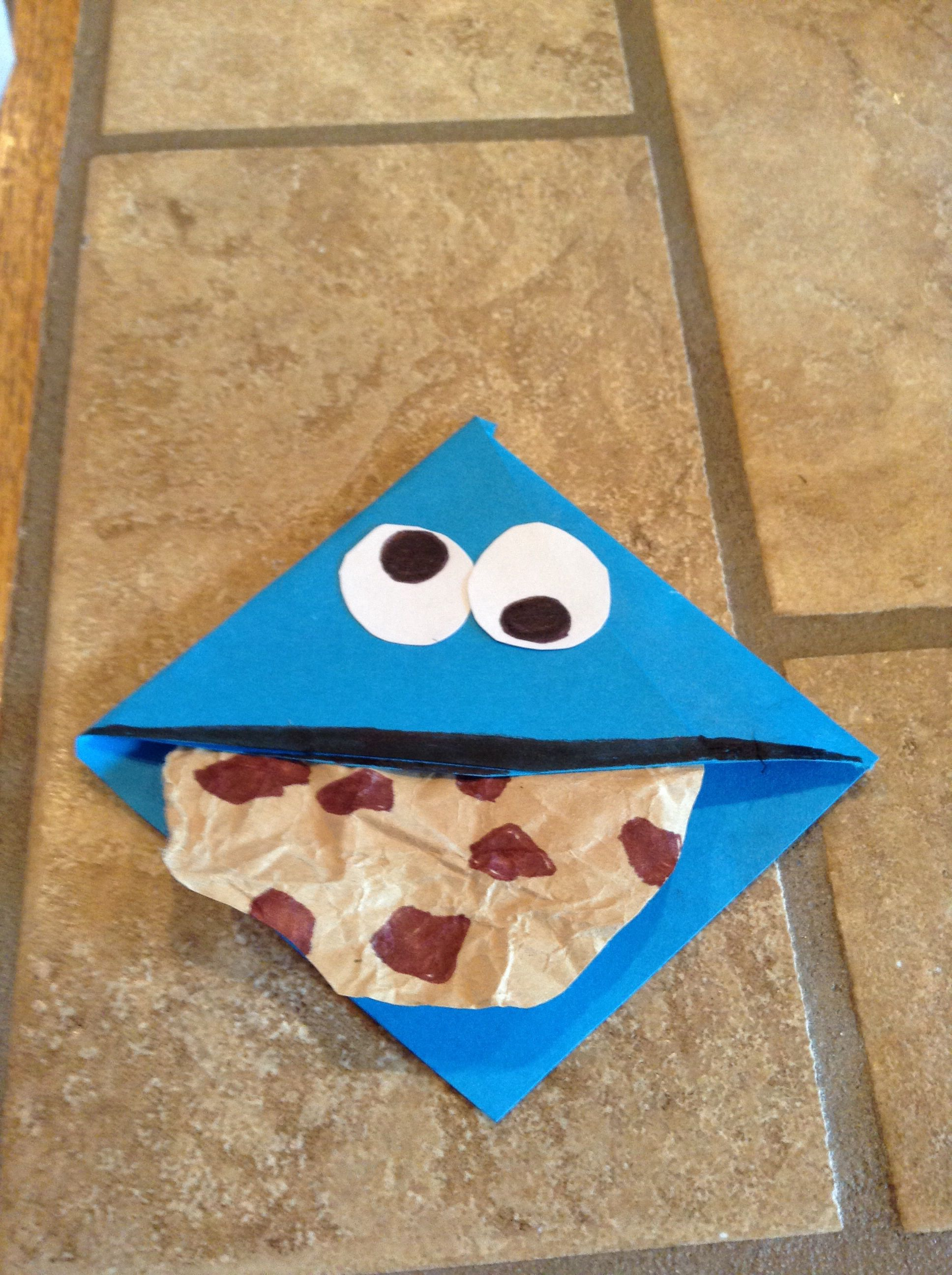 Cookie Monster Bookmark!!! (Made myself)
