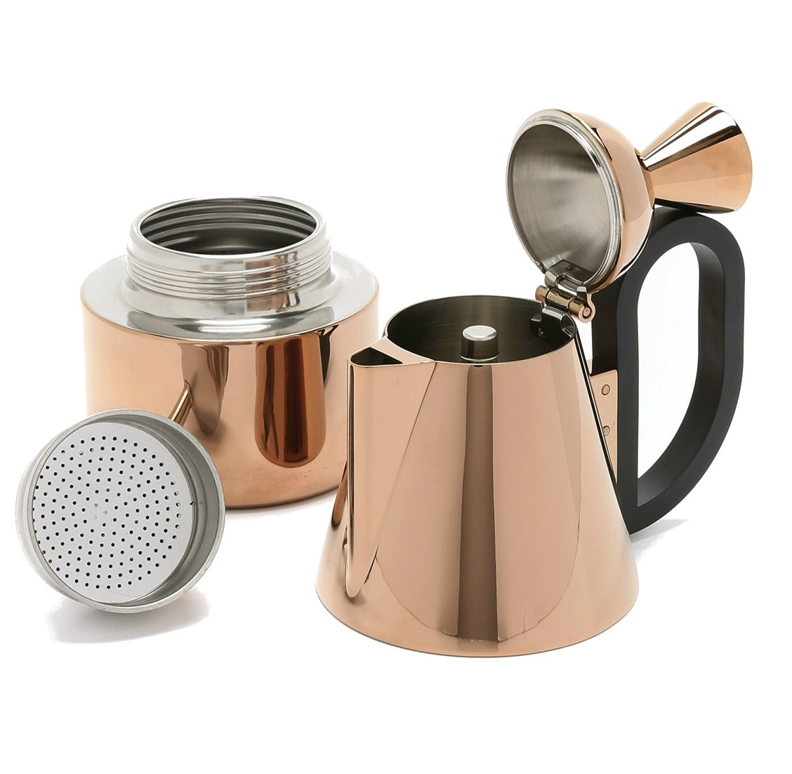 Stovetop Coffee Maker Gift : Tom Dixon brew stove top coffee maker. http://rstyle.me/n/bdis4ibbi4f Wishlist Pinterest ...