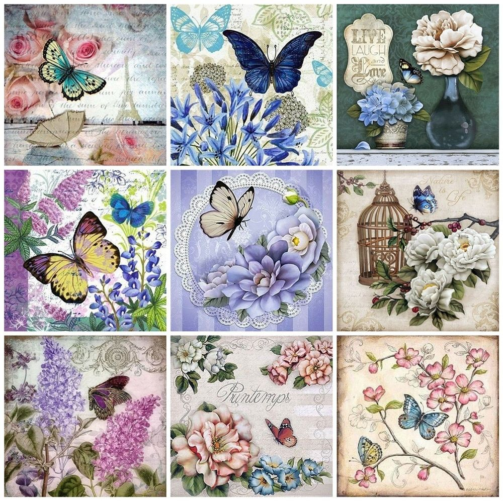 5d diy butterfly diamond embroidery in 2020 diy