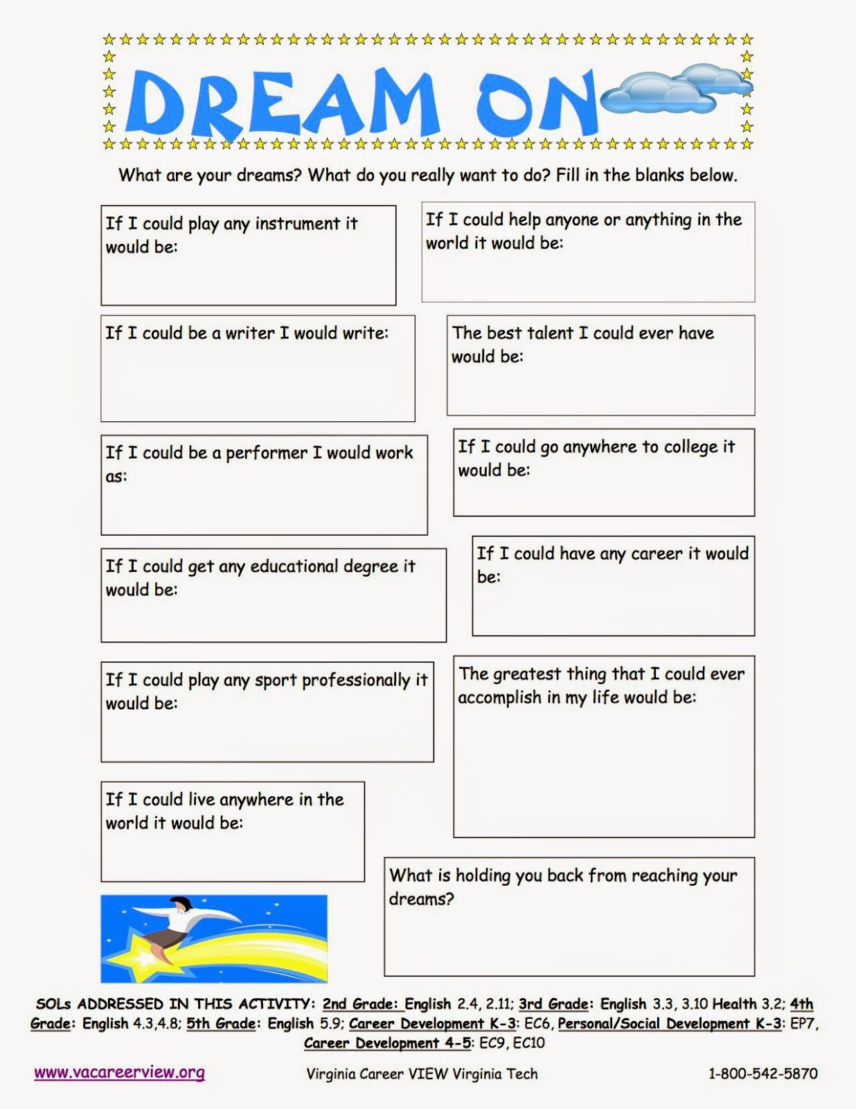 Career Worksheets For Elementary Students Worksheets