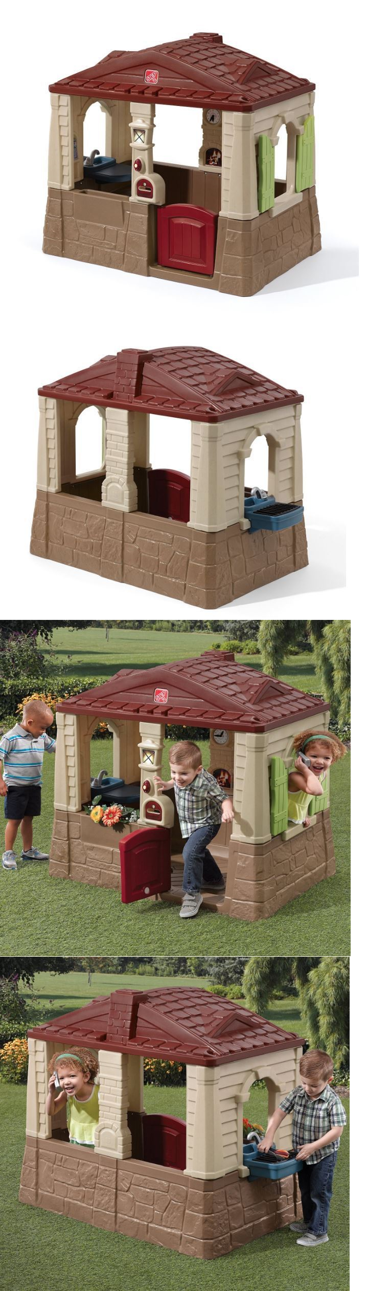 step 2 52344 outdoor playhouse for boys kids step 2 cottage house