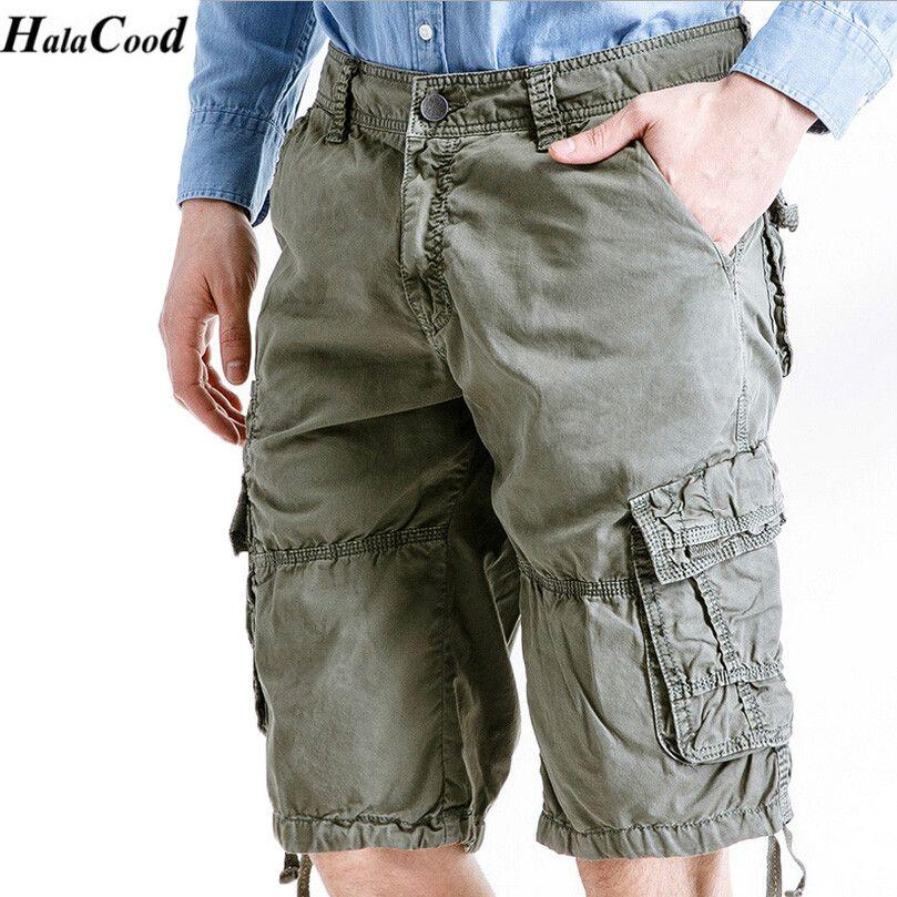 d67a57b19c HALACOOD Mr Cargo Shorts Men Hot Sale Casual Camouflage Summer Brand ...